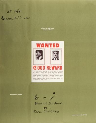 Marcel Duchamp 1963 Exhibition Fascimile Poster-0