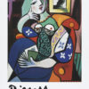 """Pablo Picasso """"Woman with a Book"""" Poster-0"""