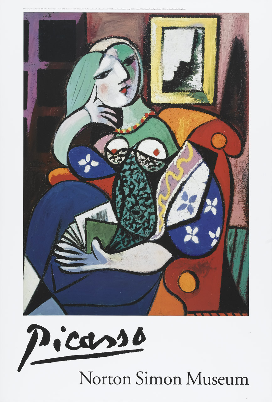 woman readind picasso 1935 Poster or Canvas Premium A4-A0
