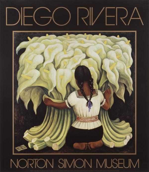 "Diego Rivera ""The Flower Vendor"" Poster-0"