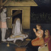 """Ladies Visiting An Ascetic at Night"" Archival Digital Print (11"" x 14"" mat)-0"