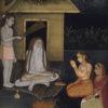 """Ladies Visiting An Ascetic at Night"" Archival Digital Print (16"" x 20"" mat)-0"
