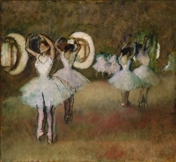 "Degas ""Dancers in the Rotunda at the Paris Opera"" Archival Digital Print (11"" x 14"" mat)-0"