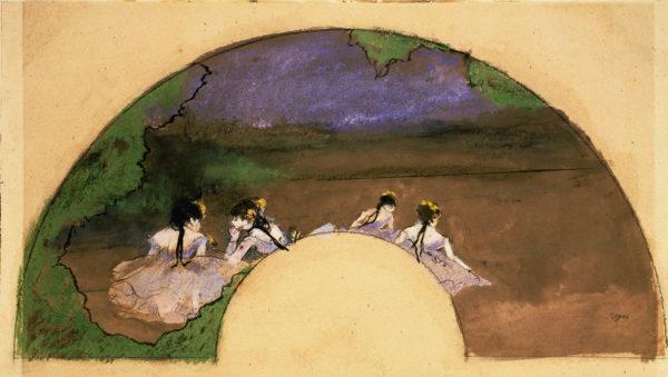 "Degas ""Fan: Dancers on Stage"" Archival Digital Print (16"" x 20"" mat)-0"