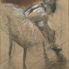 "Degas ""Seated Dancer Rubbing Her Leg"" Archival Digital Print (11"" x 14"" mat)-0"
