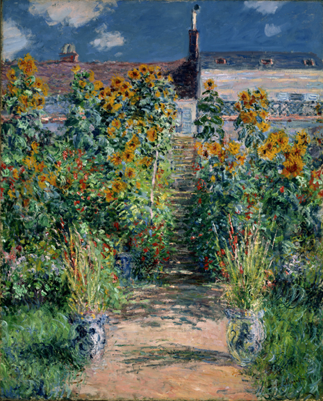 "Monet ""The Artist's Garden at Vétheuil"" Archival Canvas Print-0"