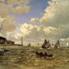 "Monet ""Mouth of the Seine at Honfleur"" Archival Digital Print (16"" x 20"" mat)-0"