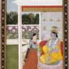 """Krishna with Messenger"" Archival Digital Print (16"" x 20"" mat)-0"