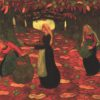 """Lacombe """"The Chestnut Gatherers"""" Archival Canvas Print-0"""