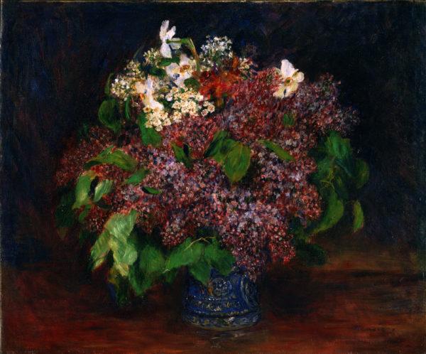 """Renoir """"Bouquet of Lilacs"""" Archival Canvas Print -0"""