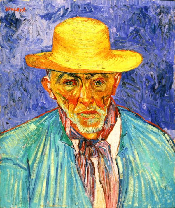 """Van Gogh """"Portrait of a Peasant (Patience Escalier)"""" Archival Canvas Print-0"""