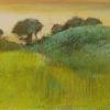 """Degas """"Wheat Field and Green Hill"""" Archival Digital Print (16"""" x 20"""" mat)-0"""