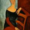 "Modigliani ""Portrait of the Artist's Wife"" Archival Canvas Print-0"