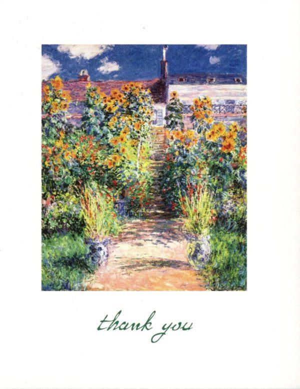 """Monet """"The Artist's Garden"""" Boxed Thank You Cards-0"""