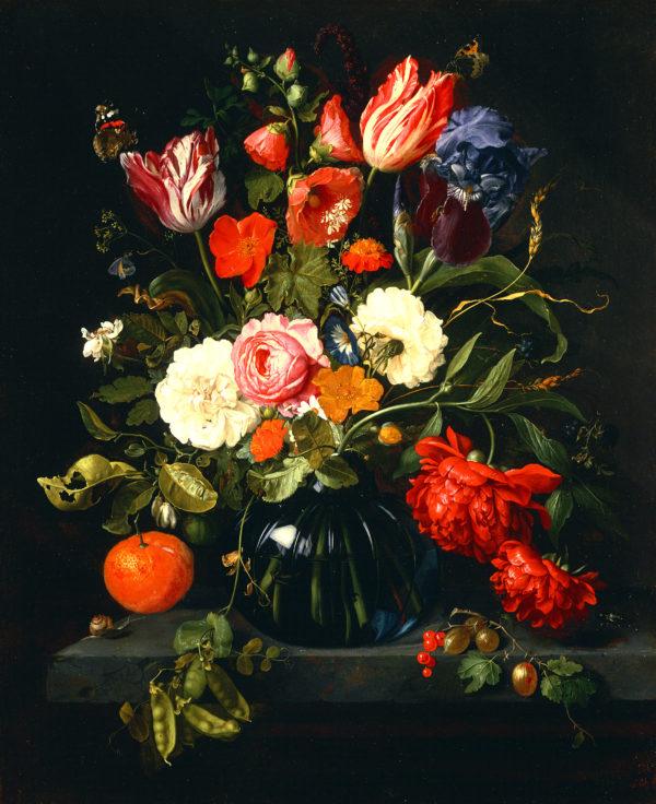 "Jan Davidzoon de Heem ""Vase of Flowers"" Archival Digital Print (11"" x 14"" mat)-0"