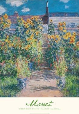 """Claude Monet """"The Artist's Garden at Vétheuil"""" Poster-0"""
