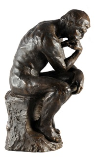 """Rodin """"The Thinker"""" Sculpture Reproduction (9.5"""")-0"""
