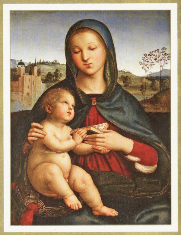 """Raphael """"Madonna and Child with Book"""" Boxed Holiday Greeting Cards-0"""
