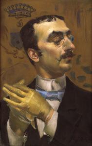 "Giovanni Boldini ""Portrait of a Dandy"" Archival Digital Print (16 x 20 inch mat)-0"