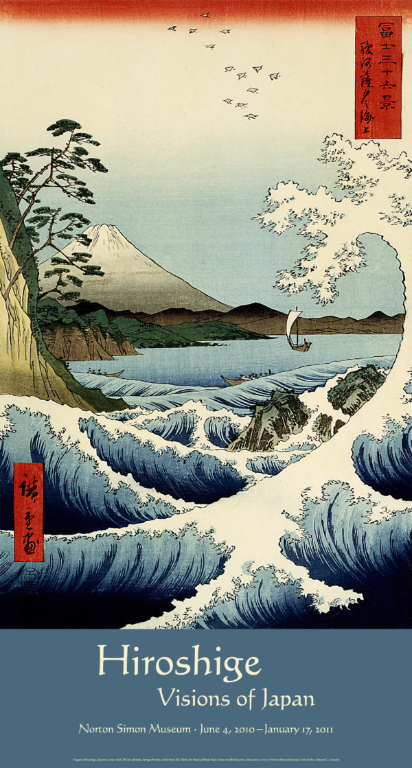 Hiroshige: Visions of Japan Exhibition Poster (Sea off Satta)-0