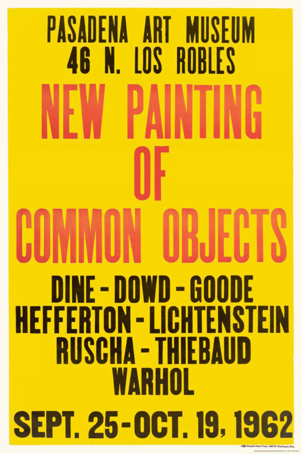 """""""New Painting of Common Objects"""" 1962 Exhibition Poster Facsimile-0"""