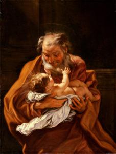 "Giovanni Battista Gaulli ""Saint Joseph and the Infant Christ"" Archival Digital Print (16"" x 20"" mat)-0"