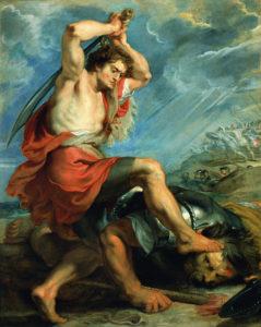 "Peter Paul Rubens ""David Slaying Goliath"" Archival Digital Print (11 x 14 inch mat)-0"