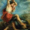 "Peter Paul Rubens ""David Slaying Goliath"" Archival Digital Print (16 x 20 inch mat)-0"