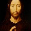 "Hans Memling ""Christ Giving His Blessing"" Archival Digital Print (16 x 20 inch mat)-0"