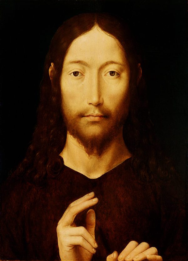 "Hans Memling ""Christ Giving His Blessing"" Archival Digital Print (16 x 20 inch mat)-0"