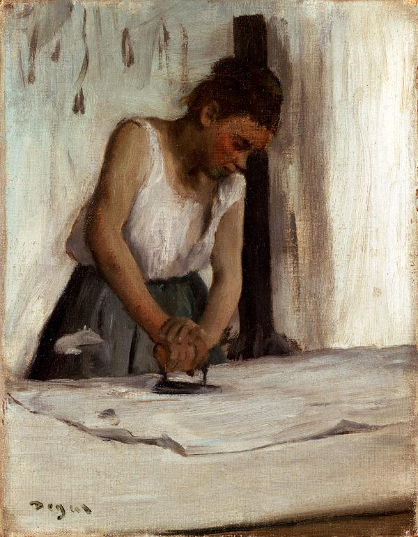 "Edgar Degas ""The Laundress"" Archival Digital Print (11 x 14 inch mat)-0"