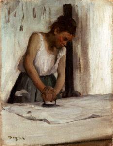 "Edgar Degas ""The Laundress"" Archival Digital Print (16 x 20 inch mat)-0"
