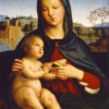 """Raphael """"Madonna and Child with Book"""" Archival Digital Print (11 x 14 inch mat)-0"""