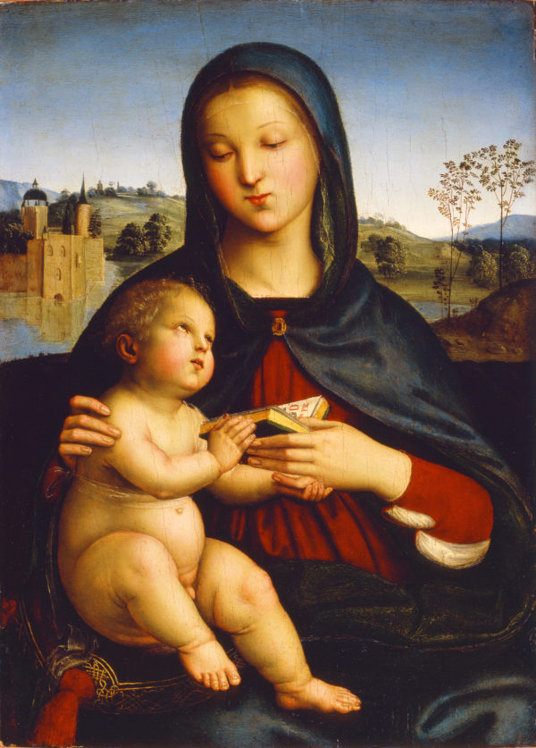 """Raphael """"Madonna and Child with Book"""" Archival Digital Print (16 x 20 inch mat)-0"""