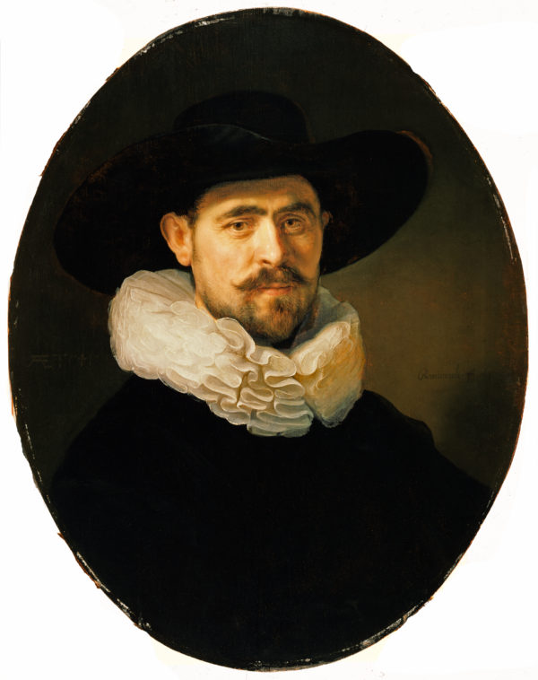 """Rembrandt van Rijn """"Portrait of a Bearded Man with a Wide-Brimmed Hat"""" Archival Digital Print (11 x 14 inch mat)-0"""