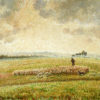 """Camille Pissarro """"Landscape with Flock of Sheep"""" Archival Digital Print (16 x 20 inch mat)-0"""