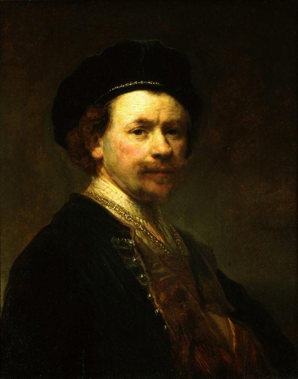 "Rembrandt van Rijn ""Self-Portrait"" Archival Digital Print (11 x 14 inch mat)-0"