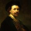 "Rembrandt van Rijn ""Self-Portrait"" Archival Digital Print (16 x 20 inch mat)-0"