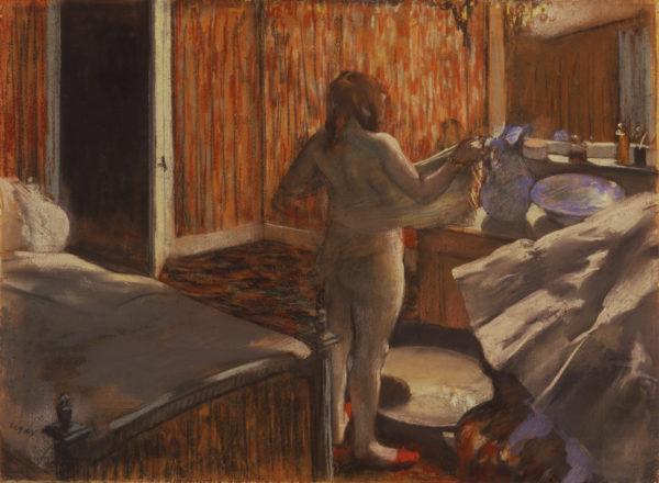 "Edgar Degas ""Woman Drying Herself After the Bath"" Archival Digital Print (16 x 20 inch mat)-0"