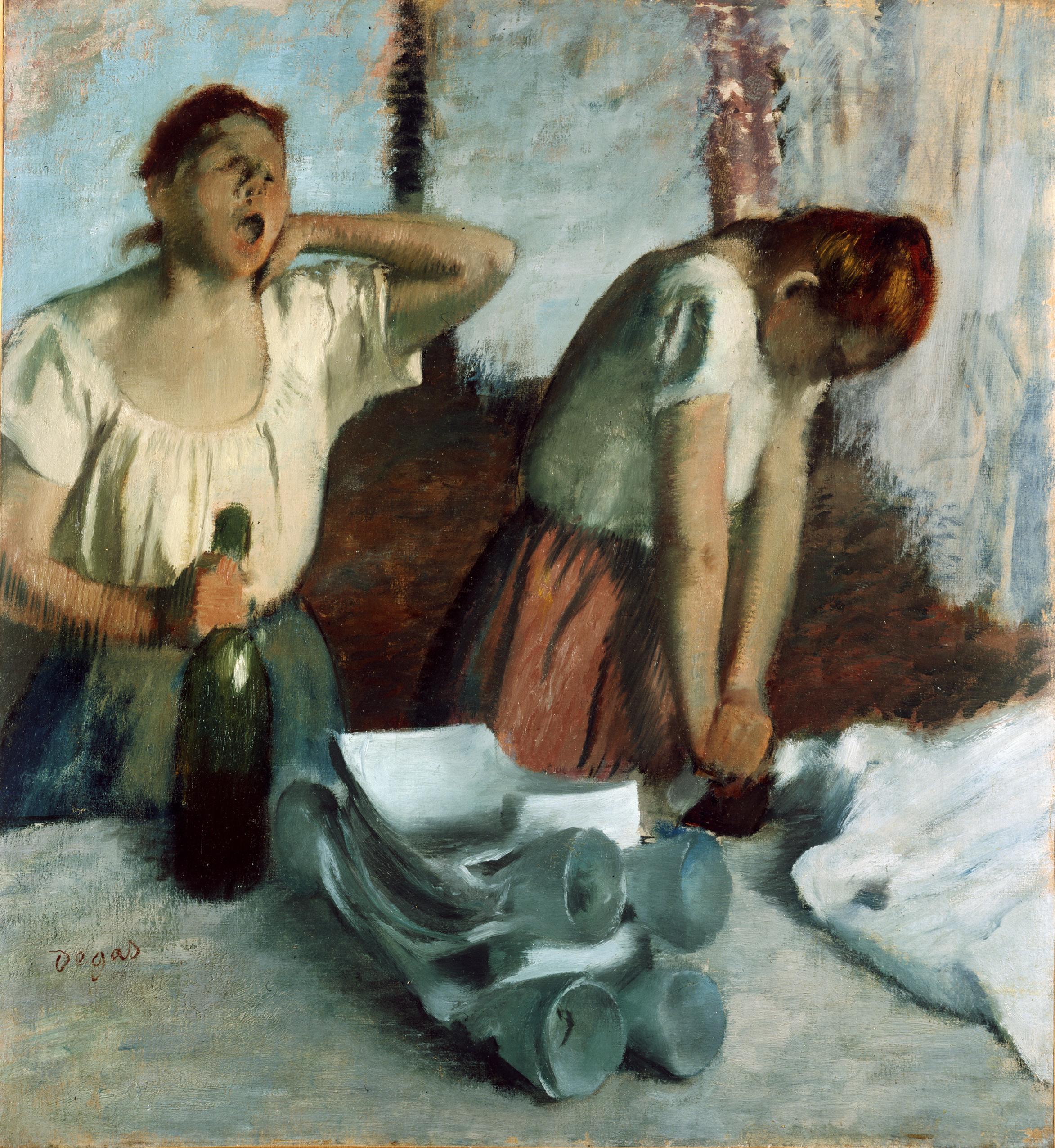 Edgar Degas,Woman Ironing,Clothing store framed printing,Framed Prints,wall art prints,Hanging Canvas print,large wall art oversized,f434