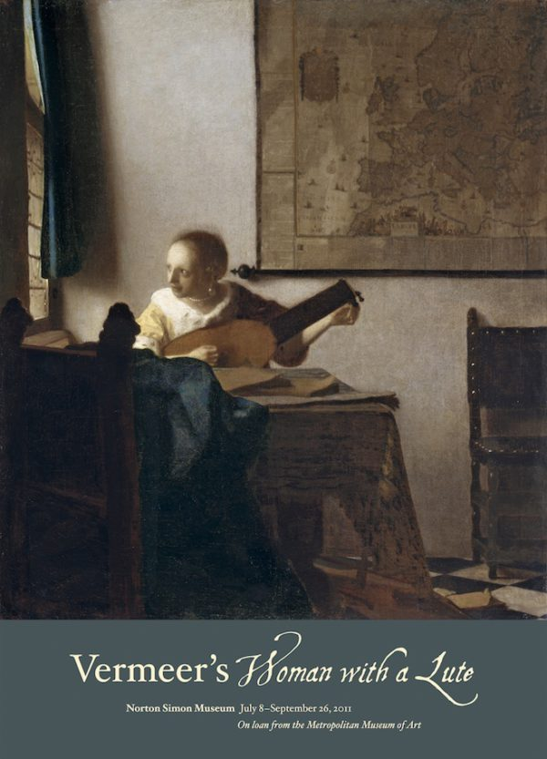 """Johannes Vermeer """"Woman with a Lute"""" Poster-0"""
