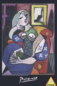 """Picasso """"Woman with a Book"""" 1000 Piece Puzzle-0"""