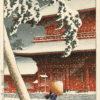 "Kawase Hasui ""Zojo Temple, Shiba"" Archvial Digital Print (11"" x 14"" mat)-0"