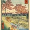 "Hiroshige ""Yuhigaoka Hill at Meguro, Edo"" Archival Digital Print (11"" x 14"" mat)-0"
