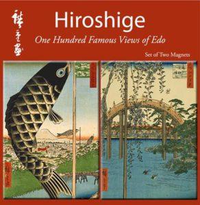 "Hiroshige ""One Hundred Famous Views of Edo"" Double Magnet Set-0"