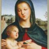 Raphael Madonna and Child with Book (detail) Boxed Holiday Greeting Cards-0