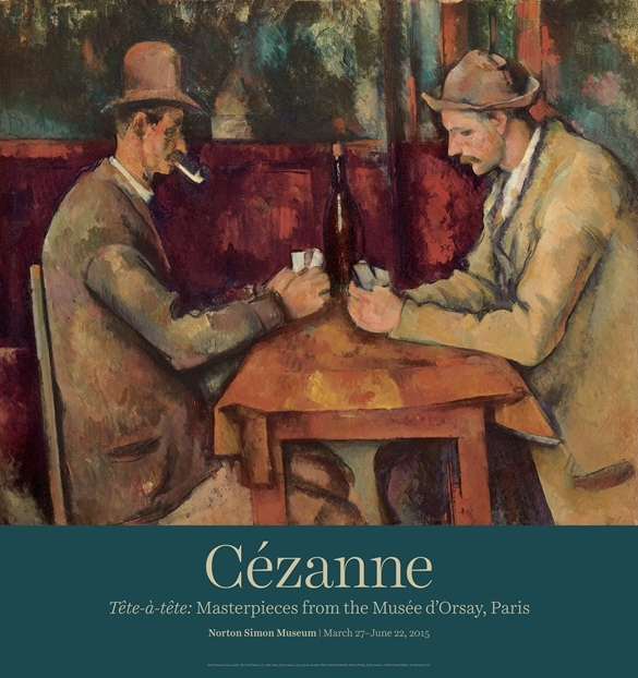 """Paul Cezanne """"The Card Players"""" Poster-0"""