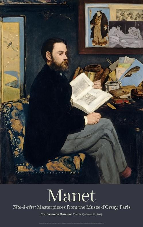 """Édouard Manet """"Portrait of Emile Zola"""" Poster-0"""