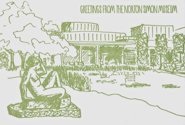 Norton Simon Museum Garden Post Card-0
