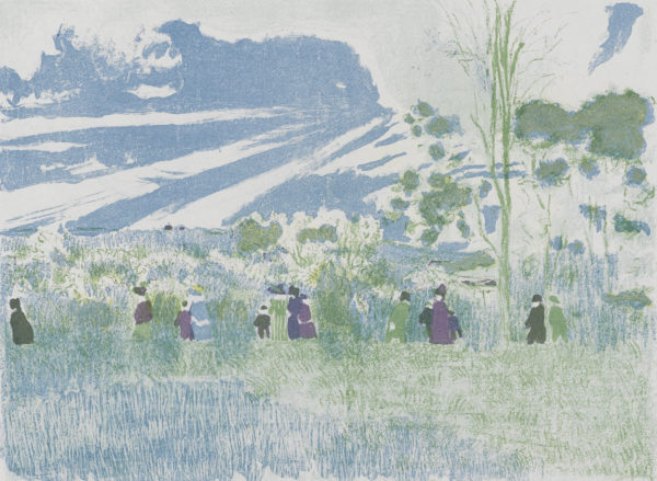 "Edouard Vuillard, ""Landscapes and Interiors: Across the Fields"", Archival Digital Print (11x14 inch mat)-0"